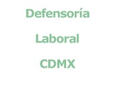Defensoría Laboral CDMX